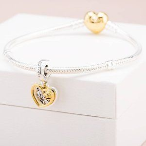 🎆Pandora Hearts & Bees Dangle Charm